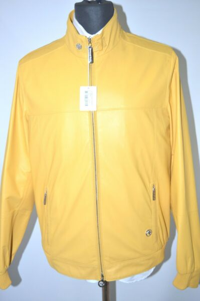 NEW 970000 $ STEFANO RICCI  Outwear  Coat  Leather  Us S Eu 48 (G3)