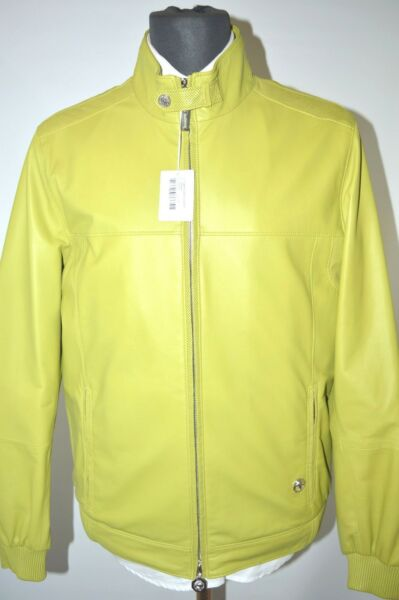 NEW 970000 $ STEFANO RICCI  Outwear  Coat  Leather  Us S Eu 48 (G4)