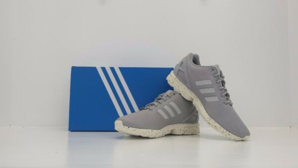 ADIDAS ZX Flux Clear Onix/Grey/White S31517 Sizes 8, 9 - BRAND NEW IN BOX