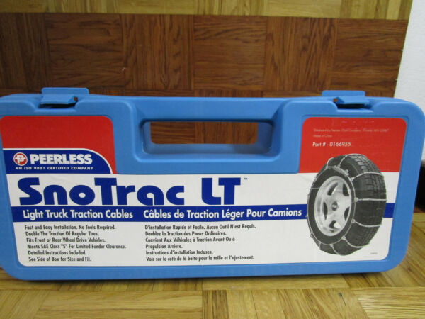 Peerless 0166955 Sno Trac  Light TruckSUV Cable Tire Snow Chains