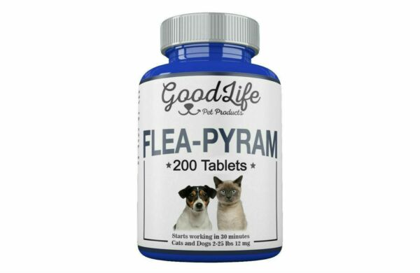 6 Tablets GoodLife Flea Killer For CATS and DOGS 2-25 Lbs. 12 mg Fast Shipping!
