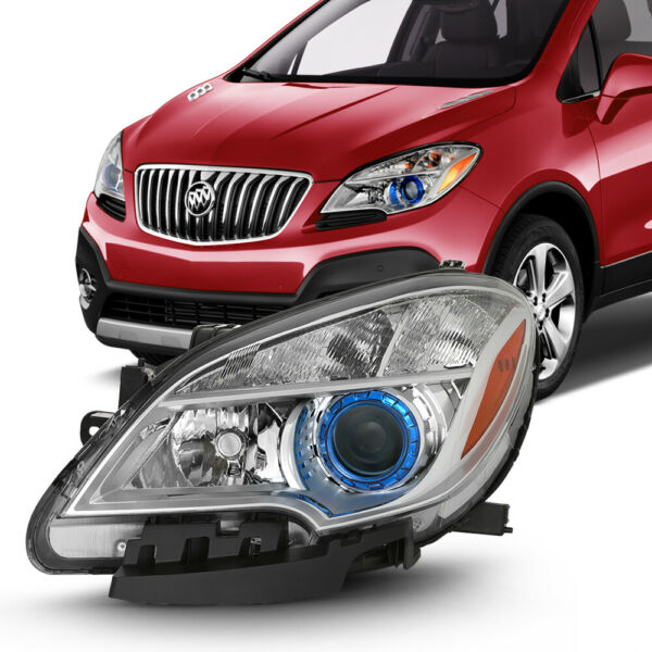 L Driver Side Headlight Factory Style Replacement For 13-16 Buick Encore Mokka X