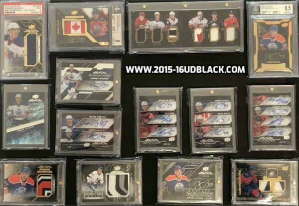15-16 UD Black Hockey Master Set - Connor McDavid Rookie Autos & Patches