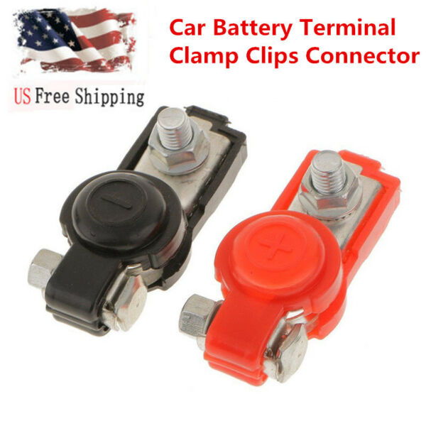 1Pair Brass Positive Nagative Car Battery Terminal Clamp Clips Connector For US