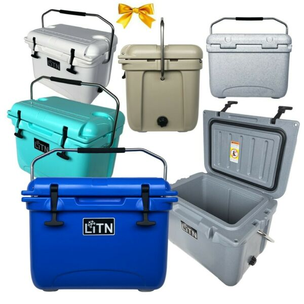 Outdoors 20 QT Cooler Ice Chest Box RotoMolded High Performance Cooler