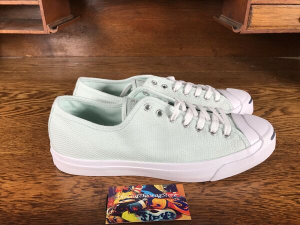 Converse Jack Purcell Ox Mens Low Top Casual Shoe Mint/White 155633C NEW Sz 10.5