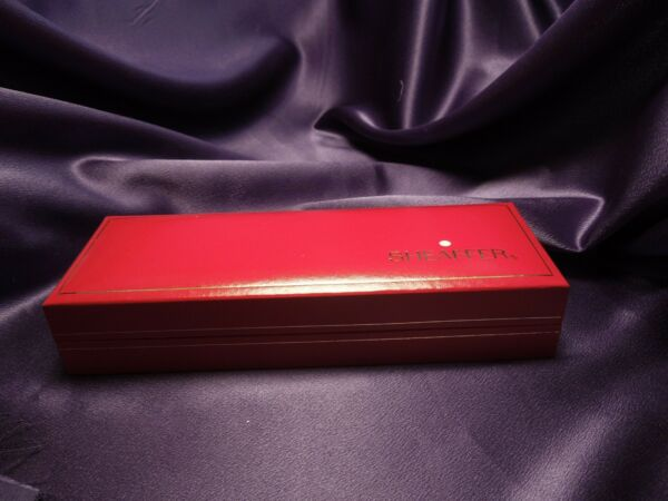 Green amp; Gold Sheaffer Ballpoint Pen in Original Red and Gold Box