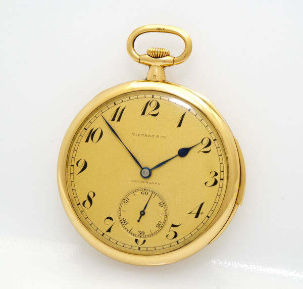 RARE Tiffany & Co by Patek Philippe Minute Repeater 48mm 18k Gold Pocket Watch