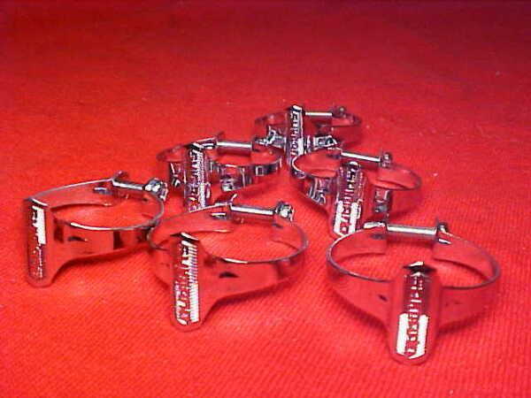 6 Vintage Shimano Road Bike Touring Bicycle 1quot; Chrome Cable Clamps. nos $18.75
