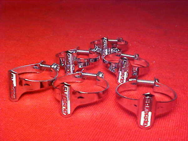 6 Vintage Shimano Road Bike Touring Bicycle 1quot; Chrome Cable Clamps. nos