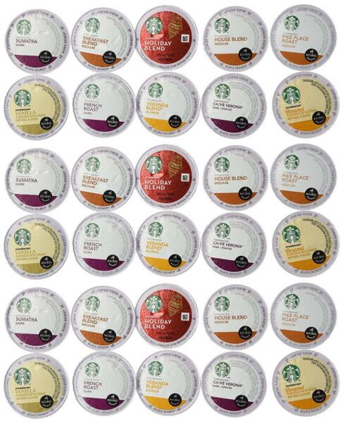 30 Count - Variety Pack of Starbucks Coffee K-Cups for All Keurig K Cup...