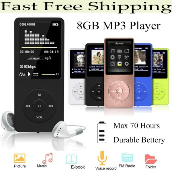 AGPtek Bluetooth 4.0 Lossless Music Player Metal Body Loud Speaker MP3 FM Player