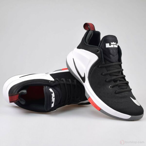 New Nike Zoom Witness Lebron Sz 10 Sneakers Black White Red 852439-003