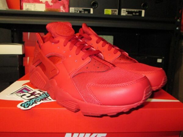 NEW MEN'S NIKE AIR HUARACHE RUN VARSITY RED 318429 660 SZ 9.5-12 TRIPLE