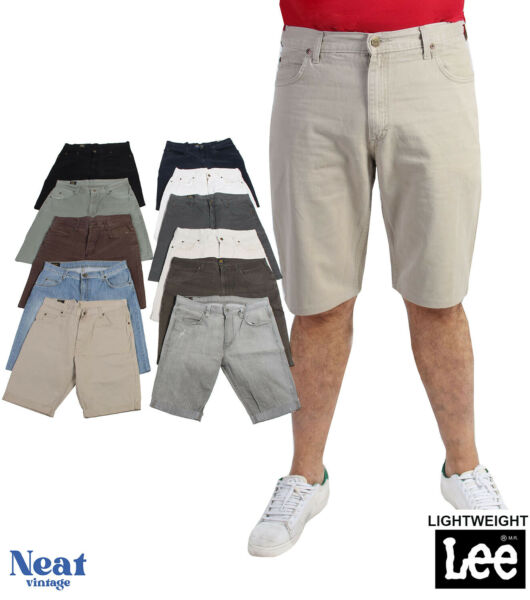 Vintage Mens Lee Lightweight Chino Shorts Bottoms 28 in. to 40 in.