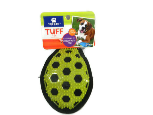 Top Paw Tuff Toy Spiked Ball Green Blue Ultra Durable Teething Chewing Pet New
