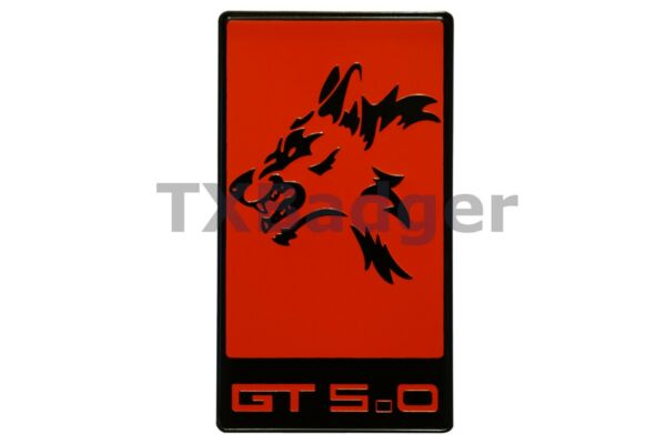 Mustang - Coyote GT 5.0 Grille Trunk Badge Emblem - Red - TXBadger