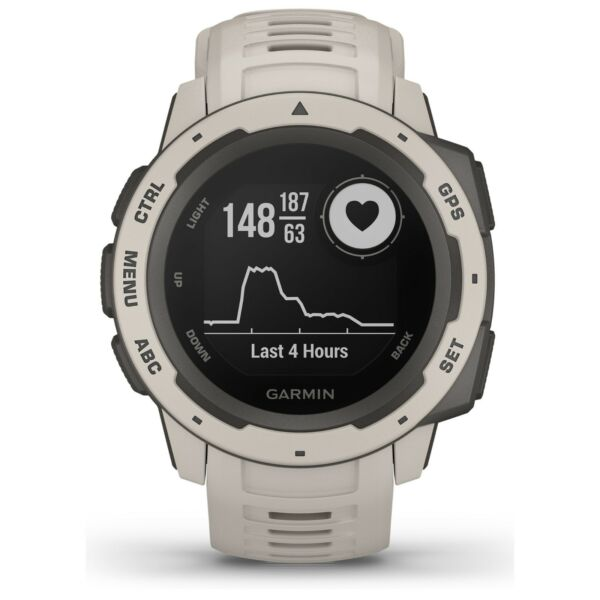 Garmin Instinct Rugged Outdoor GPS Watch Tundra Wrist HRM GLONASS 010-02064-01