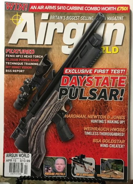 Airgun World Daystate Pulsar Vintage Pistols DIY April 2015 FREE SHIPPING JB