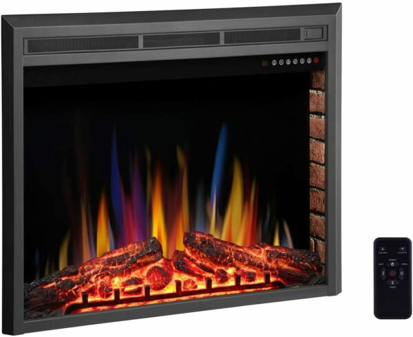 R.W.FLAME 36inch Recessed Electric Fireplace InsertRemote Control750W-1500W
