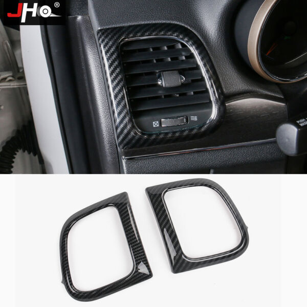 ABS Carbon Grain Side Vent Outlet Cover Trim For Jeep Grand Cherokee 2014 2020 $23.50