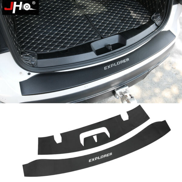 Leather Carbon Grain Rear Trunk Bumper Protector Sticker For Ford Explorer 16 19 $36.66