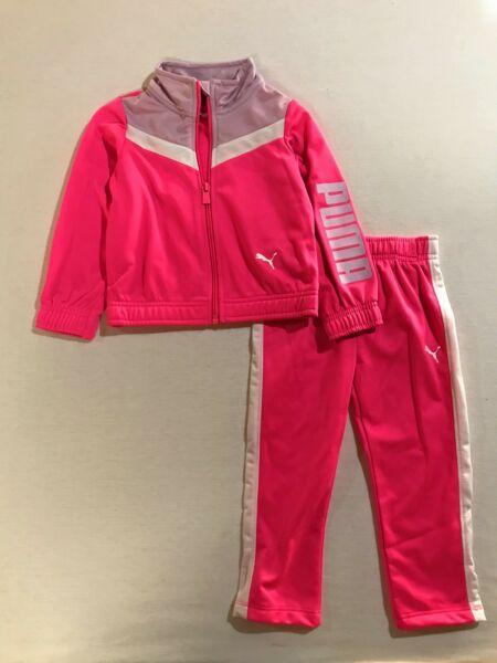 PUMA Baby Girls Two Piece Set Tracksuit 12 24 Months