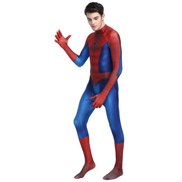 Amazing Spiderman Cosplay Costume with Mask Men Halloween Party Zentai Bodysuit