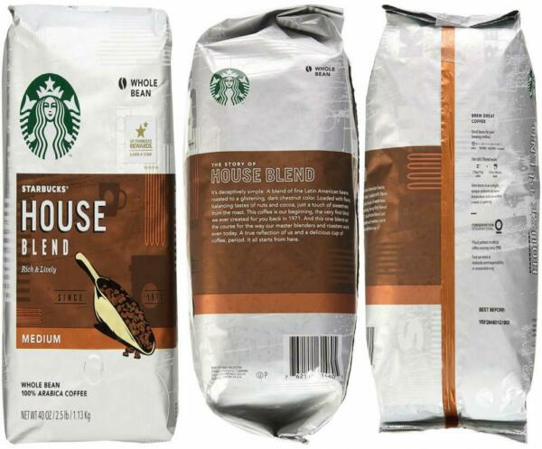 Starbucks House Blend Whole Bean Coffee 40-Ounce Bag