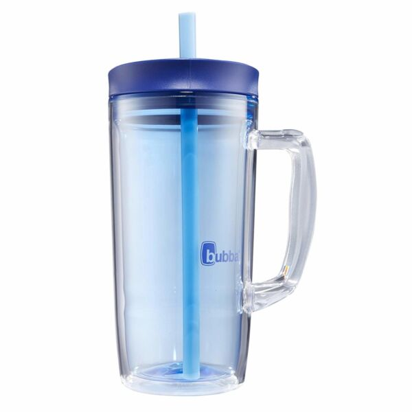 32 Oz Insulated Straw Tumbler Double Wall With Handle Spill Proof Lid Drinkware