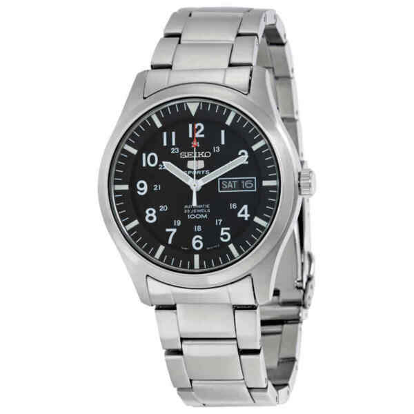 Seiko 5 Automatic Black Dial Stainless Steel Men#x27;s Watch SNZG13 $132.85