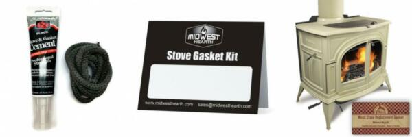 Midwest Hearth Wood Stove Replacement Gasket Kit for Woodburning Stoves ... $20.53