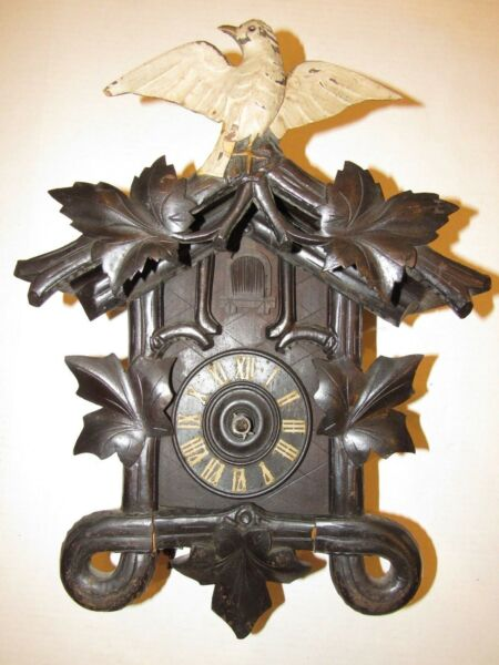 Antique Black Forest Cuckoo Clock for PartsProject