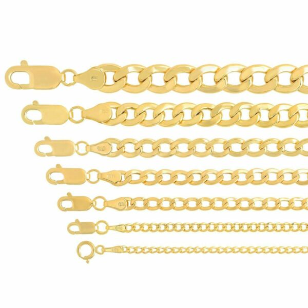 Real 14k Yellow Gold Cuban Link Curb Chain Pendant Necklace Sz 16quot; 30quot; $136.94
