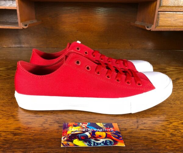 Converse All Star Chuck Taylor All Star Low Red/White 150151C Lunarlon Size 10.5
