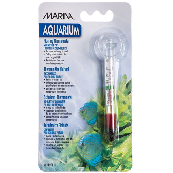 Marina Aquarium Floating Thermometer w Suction Cup $8.55