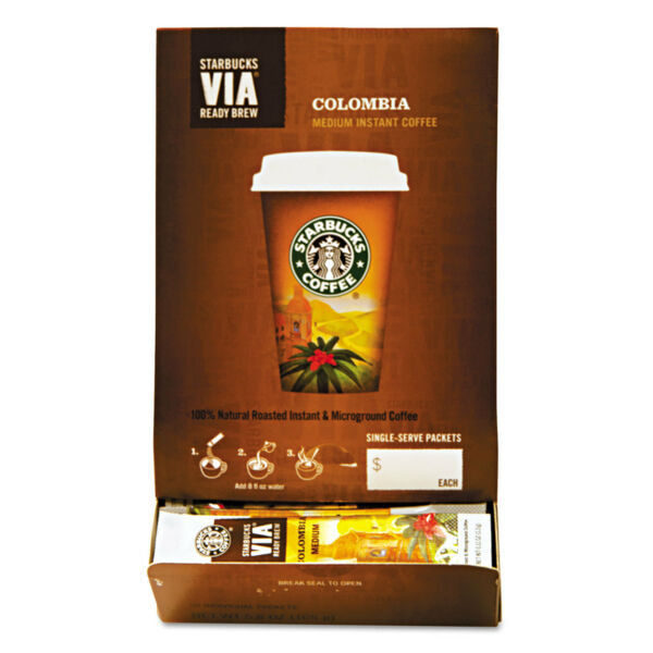 Starbucks VIA Ready Brew Coffee 325oz Colombia 50Box 11008131