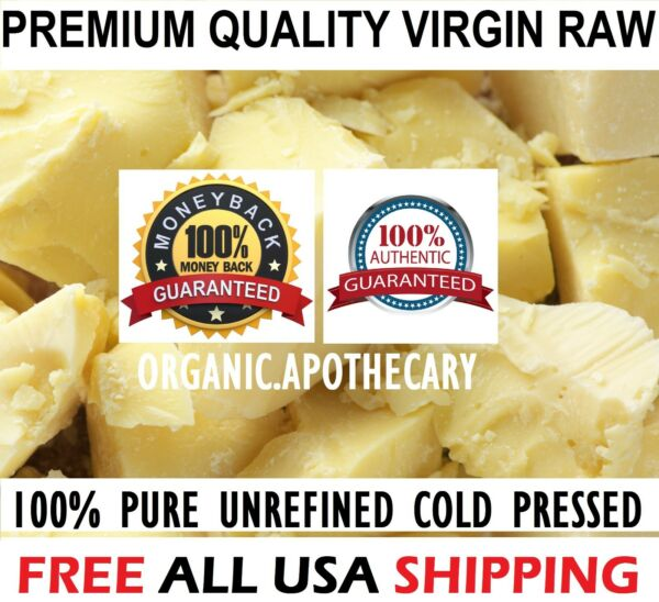 Raw CACAO  COCOA BUTTER Organic Unrefined Natural 100% Pure Prime Cold Pressed