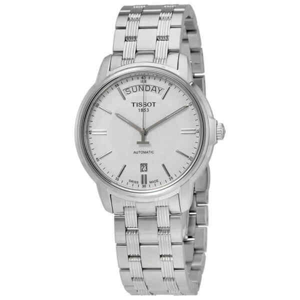 Tissot T Classic Automatic III Day Date White Dial Men#x27;s Watch $224.42