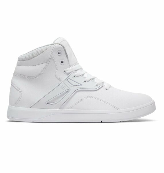 DC Men's Frequency High White Leather Skate Trainers UK 10.5 EU 45 US M 11.5