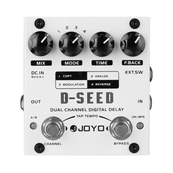 JOYO Dual Channel Digital Delay Guitar Effects Pedal D-SEED Four Modes
