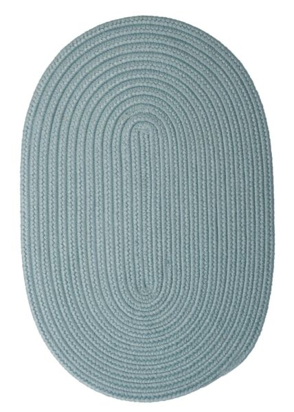 Boca Raton Federal Light Blue Braided Area Rug Runner. Many Sizes. BR54