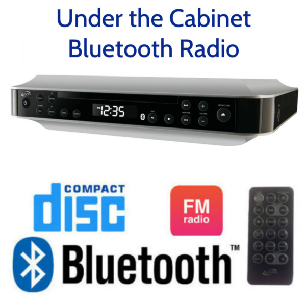 Under the Cabinet Cd Player And Radio Kitchen Counter Bluetooth Stereo Speaker