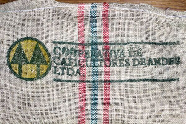 Product of Colombia burlap Coffee Bean sack