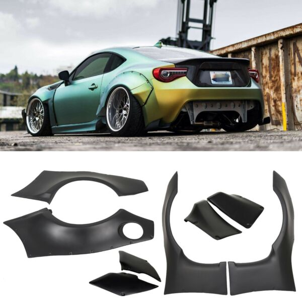 Rocket Bunny Style Wide Fender Flare Cover Guards Fit 13-17 Scion FRS Subaru BRZ