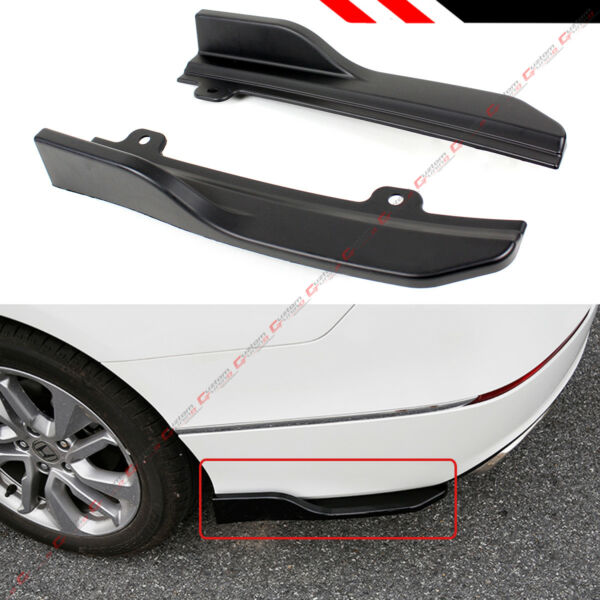 FOR 2018 2020 HONDA ACCORD REAR BUMPER CORNER SIDE SPAT VALANCE APRON SPLITTERS