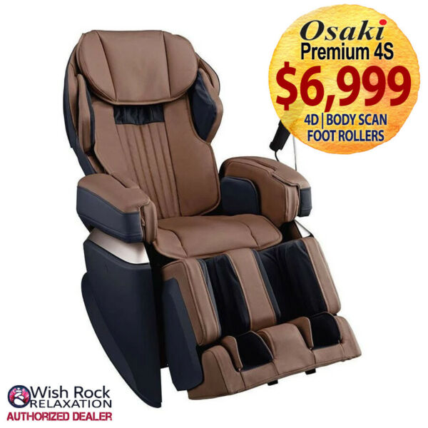 Osaki Japan Premium 4S Massage Chair w 4D Tech Heat & Foot Rollers