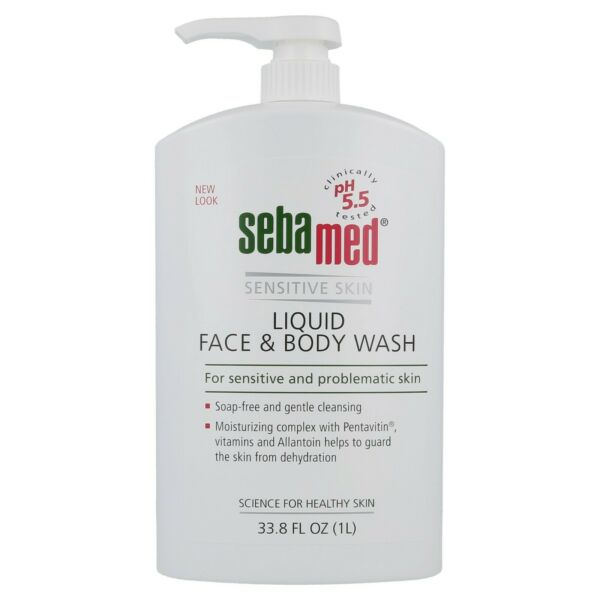 NEW Sebamed Liquid Face and Body Wash for Sensitive Skin 100% Soap-free 1 Liter