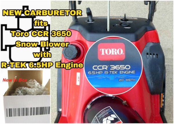 Replacement Carburetor for Toro CCR 3650 Snow Blower w R-TEK 6.5HP Engine