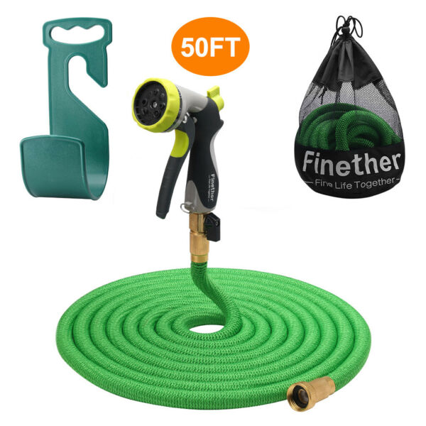 50FTs Flexible TOUCH COMMERCIAL Garden Water Hose Heavy Duty Metal Watering Pipe